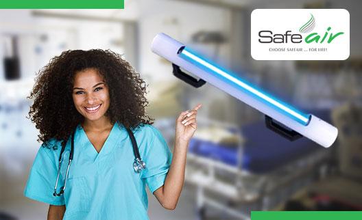 safeair UV-C sterilization lamp